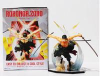 Wholesale Pop Zoro - Hot Anime One Piece POP Roronoa Zoro Banpresto Action Figure Colossum New in Box 17cm