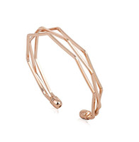 Wholesale Personalized Lovers Bracelets - New Personalized Rose Golden Cuff Bangles Multi Layer Cuff Bracelets Best Gifts for Lover man women wristband jewelry