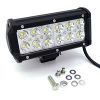 Wholesale 36w Led Light Bar - 36W 12V-24V Spot Flood Beam LED Work Driving Light bar spot lamp 4X4 ATV DRIVING SUV