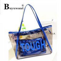 Wholesale Soft Jellyfish - Wholesale-Transparent bag new summer beach jelly bag crystal one shoulder jellyfish bag Topes Bag
