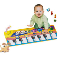 Wholesale Touches Piano - 2017 New Multifunction Baby Play Crawling Mat Touch Type Electronic Piano Music Game Mats Animal Sounds Sings Toys for Kids Gift