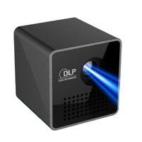 construir proyector dlp al por mayor-Proyector Uninc P1 + DLP Micro Proyector Mini Proyectores LED portátiles Built-in WIFI Micro USB Pocket Home Movie Beamer DLNA Miracast Airplay