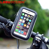 Wholesale Bicycle Cards Case - Bicycle Phone Holder Mobile Phone Stand for iPhone Samsung 4.7 5.5 6.3 Inch GPS Bike Holder with Waterproof Case Bag