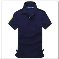 Wholesale Korean Slim Fit Shirts Brand - 2017 New Korean style Polo Men's T Shirts Fashion Casual Slim Fit Shirt Brand embroidery style Size:S-XXL