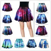 Wholesale Galaxy Chiffon - 2016 New Hot High Waist Pleated Galaxy Dress Casual Elegant Dresses For Women 22 Colors Harajuku Style Mini Women Fairy Dress