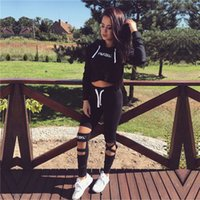 Wholesale Lace Vests For Women - High Quality Women Tracksuits Sport Suits Women Gym Fitness Jogging Suit Clothing 2 Piece Set yoga wear 2016 Tracksuit for women HGE
