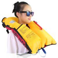 Wholesale Child Inflatable Life Vest - Wholesale- Adult Children Life Vest Boating Life Jacket Fishing Swimming Drifting Automatic Inflatable Vest Neoprene Jackets 2017 New
