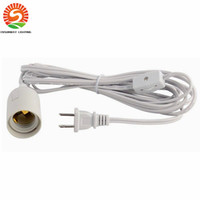 Wholesale Wholesale Lamp Cords - Wholesale-120pcs free shipping UL approved IQ lamp power cord us with on off switch and E 26 lampholder and 12 feet long cable
