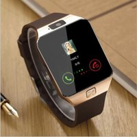 Wholesale Man Bluetooth Watch - smart watches smartwatch bluetooth watch phones for men and women DZ09 support SIM Card TF card for Android smart phone
