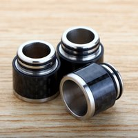 Wholesale Mail Tank - TFV8 Drip Tip Stainless Steel and Carbon Fiber Material 810 Mouthpieces Fit TFV12 Tank E Cigarette Package mail