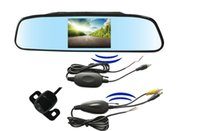 Wholesale Tft Lcd Wireless Video - 2.4G Wireless car rearview PZ603W 4.3 inch display TFT LCD Screen camera monitor 2 way video in dhl