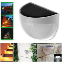 6 LEDs Sensor Solar Powered Light Lâmpada exterior LED Wall Light Lâmpada de jardim Outdoor Walkway Home Stair Waterproof Bulb Free DHL G2L