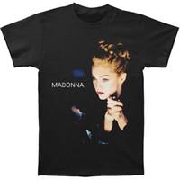 Wholesale Madonna T Shirt - T Shirt Gift More Size And Colors Madonna Men'S Folded Hands T-Shirt Black Men'S Crew Neck Short-Sleeve Premium Tee Shirts