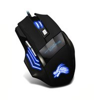 Wholesale Pro Gaming Mouse - Professional 5500 DPI Gaming Mouse 7 Buttons LED Optical USB Wired Mice for Pro Gamer Computer X3 Mouse