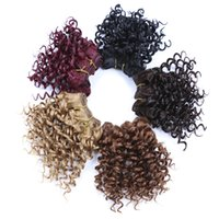 "Wholesale Top Quality Synthetic Hair - New Arriving Fashional Jerry Curl 8""Top Quality Synthetic Hair Extensions 3pcs set Havana Twist Crochet Braiding Hair Weaving Curlystyle"
