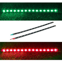 Wholesale Marine 12v Lighting - 2x Boat Navigation LED Lighting RED & GREEN Waterproof Marine LED Strips