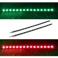 Wholesale Boat Lights Strip - 2x Boat Navigation LED Lighting RED & GREEN Waterproof Marine LED Strips