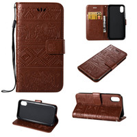 Wholesale Elephant Galaxy S3 Case - Elephant Skin Cover For Samsung Galaxy J1 J2 J3 J5 J7Prime Note 3 A3 A5 S3 i9190 S4 PU Leather Stand Wallet With Rope Card Slots Cases 10pcs