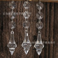 Wholesale Decorative Curtain Beads - Transparent Water Drop Acrylic Beads Crystal Bead Wedding Props Decorative Pendant Curtain Decoration Ornaments 1 1hm