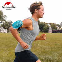 Wholesale smartphone sports armband resale online - Naturehike Water Resistant Sports Running Armband Key Holder Workout Running ArmBag for iphone Samsung smartphone