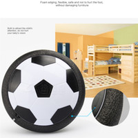 Wholesale Soft Led Balls - 2017 Led Air Power Soccer Ball Disc Indoor Football Toy Multi-surface Hovering and Gliding Toy Soft Foam Floating 2107329