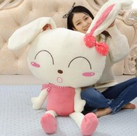 150cm Giant Peluche Soft Lovely Rabbit Toy 59 '' Big Stuffed Cartoon Bunny Doll Pillow Nice Lover Present