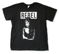 Wholesale Custom Music Shirts - AMY WINEHOUSE REBEL BLACK SLIM FIT T-SHIRT NEW OFFICIAL ADULT SINGER MUSIC custom t shirt