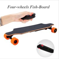 Бесплатный налог EURO Stock Drop Shipping 4 Wheel Fish Board Drift Hoverboard Maple Wood Made Скейтборд Longboard Wireless Control для детей Взрослый