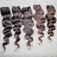 Wholesale Low Price Weave Hair - Cheapest queen hair low price 5bundles lot body wave peruvian human hair weaves colored wefts UPS shipping