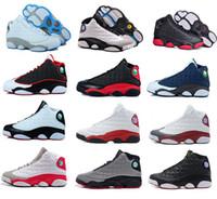 en iyi fiyatlı basketbol ayakkabıları toptan satış-Yeni Erkek bayan Basketbol Ayakkabı 13 Bred Siyah Gerçek Kırmızı Indirim Spor Ayakkabı Atletik Koşu ayakkabıları En Iyi fiyat Sneakers