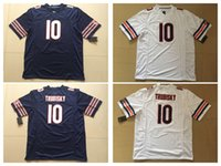 Wholesale Football Pick - Men's 10# Mitchell Trubisky 100% stitched Navy 2017 Draft Pick Game Jersey fast free shipping