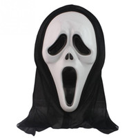 Wholesale Latex Scream Mask - Wholesale-2016 New Halloween Mask Masquerade Latex Party Dress Skull Ghost Scary Scream Mask Face Hood Unisex
