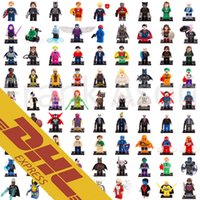 Wholesale Spiderman Blocks - Super Heroes Minifig 631 Roles Mix Order The Avengers Bat Movie Spiderman Super Man Figures Super Heroes Pump Mini Building Blocks Figures