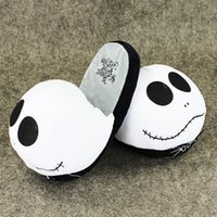 Wholesale Kids Christmas Slippers - 28cm The Nightmare before christmas jake slippers indoor plush soft doll toy for Adults Christmas gift free shipping