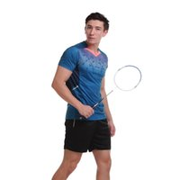 Wholesale T V Table - New Arrival Sportswear Quick Dry Breathable Badminton Shirt Women Men Table Tennis Clothes Team Game Training Short Sleeve V Neck T Shirts