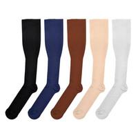 Wholesale Slimming Sock Legging - Hot Miracle Anti Fatigue Compression Socks 6 Colors Women Men Anti-Fatigue Magic Leg Warmers Slimming Socks Sport Basketball Socks