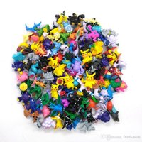 144pcs / lot Poke Figures 2-3CM Poke Monster Figurines d'action en PVC Petite taille Pikachu Charizard Eevee Bulbasaur Suicune PVC Mini Figurines Jouets