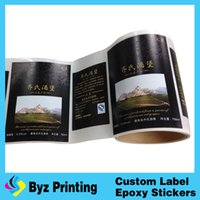 Wholesale Vinyl Printed Labels - Best quality wholesale price round matte silver PET vinyl label with serials Numbers printing