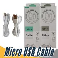 ingrosso cavo di dati micro usb al dettaglio-Caricabatterie rapido Micro USB per cavi telefonici di tipo C Cavo dati caricabatterie Android con pacchetto di vendita al dettaglio