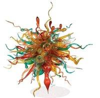 lustres de cristal multi coloridos venda por atacado-Qualidade superior Chihuly Lustre de Vidro Moderno Murano Cristal De Vidro LEVOU Bonito Multi Colorido Pendurado Teto Lustre
