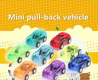 Wholesale Mini Pull Back Car - Transparent Mini pull-back vehicle, plastic toys, children's car selling wholesale,8 styles