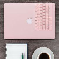 macbook pro klavyeler toptan satış-Gül Kuvars Mat Hard Case + Klavye Cilt Dokunmatik Bar OLMADAN Macbook Pro 13 için