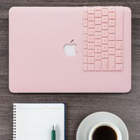 clavier dur achat en gros de-Étui rigide + clavier pour clavier Rose Quartz mat pour Macbook Pro 13 SANS barre tactile