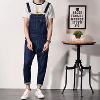 ac2cf227bc0d Wholesale- 2017 Plus Size 4XL Black Denim Jumpsuit Men Autumn Spring  Overalls Jeans Male Suspender Bib Pants ny jeans male bib pants