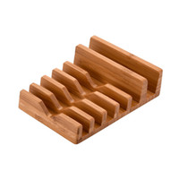 Wholesale Ipad Mini Bamboo - Bamboo Wood Charging Stand 6 in 1 Bamboo Stand Holder for iPhone ipad mini All Tablet PC Mobile Phone