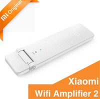 Wholesale Wi Fi Power Amplifier - Xiaomi WIFI Repeater 2 Amplifier Repitidor 300Mbps 802.11n Wireless WIFI Signal Extender Network Wi Fi Routers USB Power Supply