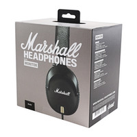 Wholesale wired dj headphones for sale - Top Wired Headphones Marshall Monitor with Mic Deep Bass DJ Hifi Headset Professional Noise Cancelling Sport Earphone Headset Headband Free