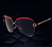 Wholesale cat eyes film - 2017 new color film lady fashion Polarized Sunglasses Fashion Color glasses large frame sunglasses 8702 original box
