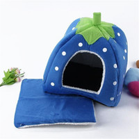 Wholesale Design Dog House - New Pet Cat Dog Indoor Mat Strawberry Design Dog House Nest Cage Pad