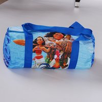 Unisex cartoon sport images - Moana Cartoon Character Sports Duffle Bag Casual Image Tote Storage Handbag for Children Back to School Supplies PE class bags